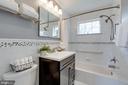 Upgraded full bath in hallway - 604 N LATHAM ST, ALEXANDRIA