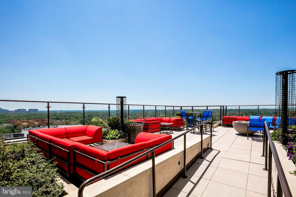 Roof top relaxing and entertaining - 851 N GLEBE RD #1717, ARLINGTON