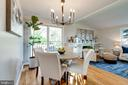 New chandelier conveys with purchase - 604 N LATHAM ST, ALEXANDRIA