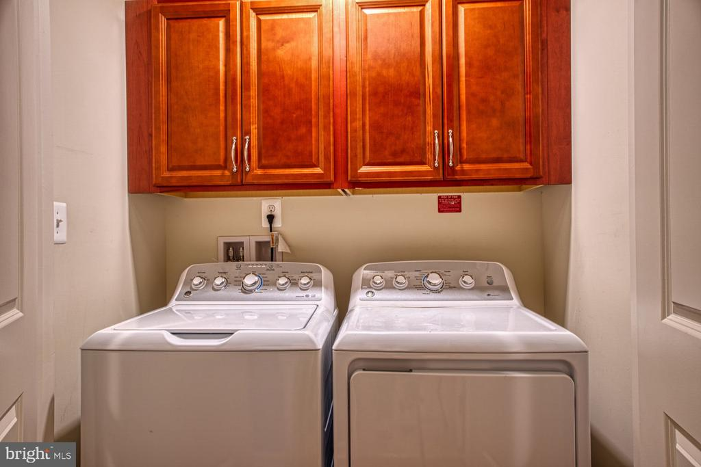 Laundry with Upgraded Cabinets is on Bedroom Level - 23399 CARTERS MEADOW TER, ASHBURN