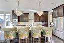 Kitchen with Waterfall Island - 312 GOODALL ST, GAITHERSBURG