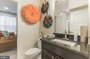 full bath on entry level next to poss. bedroom - 312 GOODALL ST, GAITHERSBURG