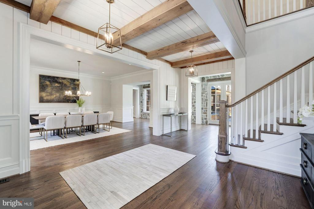Wood-Beamed Ceiling and V-Groove Paneling - 7720-A GEORGETOWN PIKE, MCLEAN