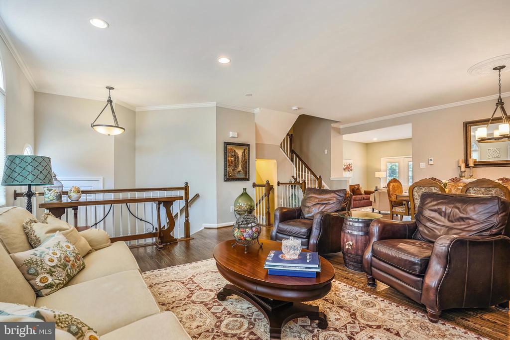 Spacious living room all freshly painted. - 4124 TROWBRIDGE ST, FAIRFAX