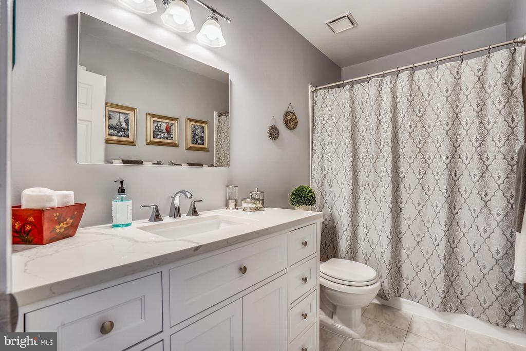 Updated raised vanity in upstairs hall bathroom. - 4124 TROWBRIDGE ST, FAIRFAX