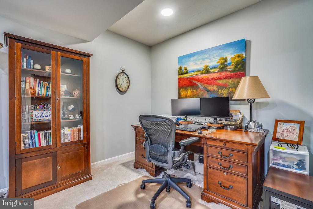 Light filled office area on lower level. - 4124 TROWBRIDGE ST, FAIRFAX