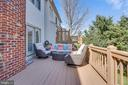 Freshly painted deck & outdoor living space. - 4124 TROWBRIDGE ST, FAIRFAX