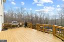 Walk out deck off main level - 39 BETHANY WAY, FREDERICKSBURG