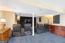 Media Area - Basement - 5722 WINDSOR GATE LN, FAIRFAX
