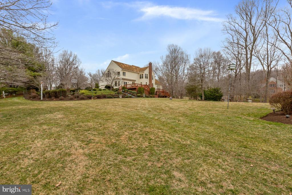 View of the Main House from the Backyard - 5722 WINDSOR GATE LN, FAIRFAX