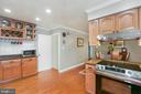 Large kitchen with steps to Lower Level - 10613 PINEVIEW RD, MANASSAS