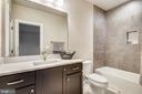 Large vanity on lower level bath - 9524 LEEMAY ST, VIENNA