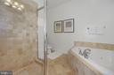 Master Shower - 1740 18TH ST NW #201, WASHINGTON