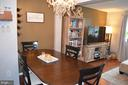 Dining room looking into family/living room - 212 DEERVALLEY DR, FREDERICK