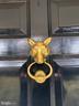 Welcoming fox door knocker on the front door. - 21943 ST LOUIS RD, MIDDLEBURG