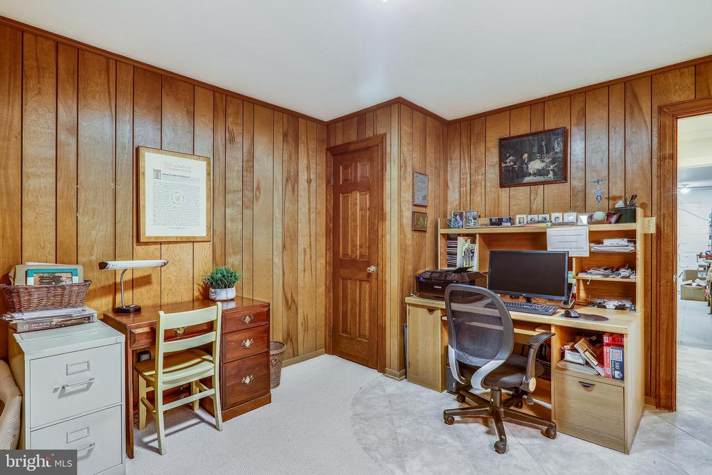 Lower level office/den - 3903 BELLE RIVE TER, ALEXANDRIA
