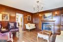 Double sided fireplace in library - 3903 BELLE RIVE TER, ALEXANDRIA