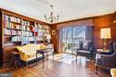 Library w/ built in bookshelves, hardwood floors - 3903 BELLE RIVE TER, ALEXANDRIA