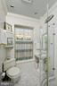 Renovated hall bath with all glass shower - 711 PRINCE ST, ALEXANDRIA