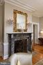 An original marble mantel surrounds the WB FP - 711 PRINCE ST, ALEXANDRIA