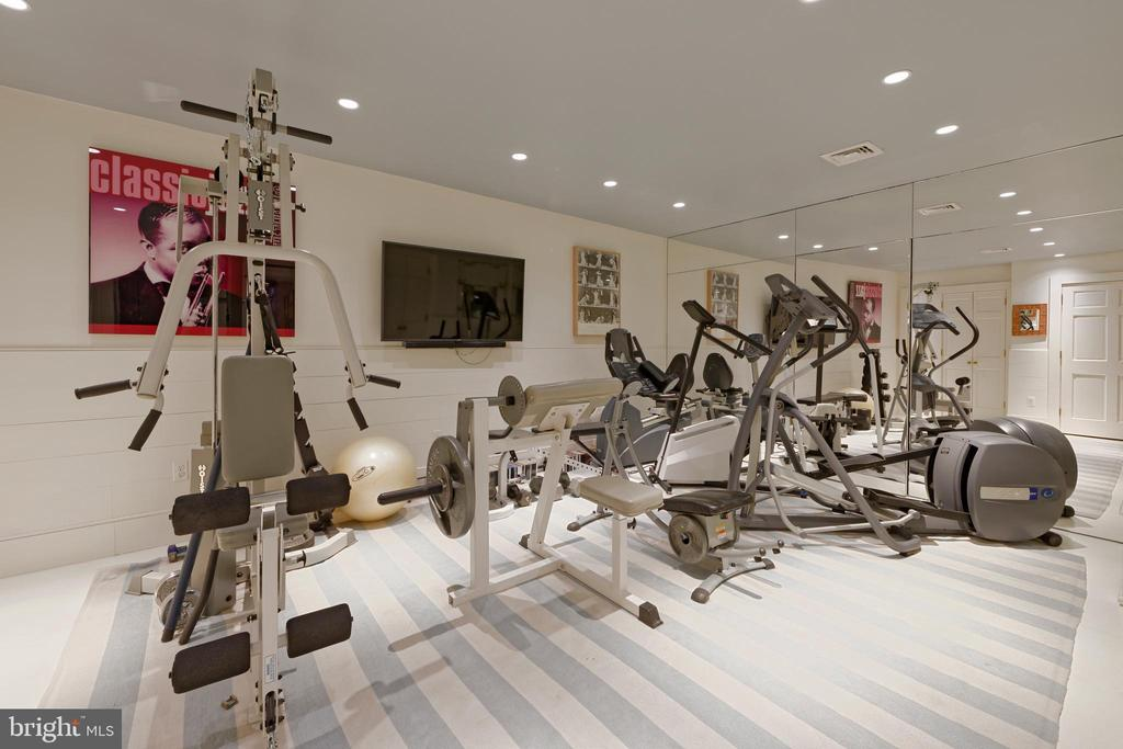 Elevator transports directly into the private gym - 711 PRINCE ST, ALEXANDRIA