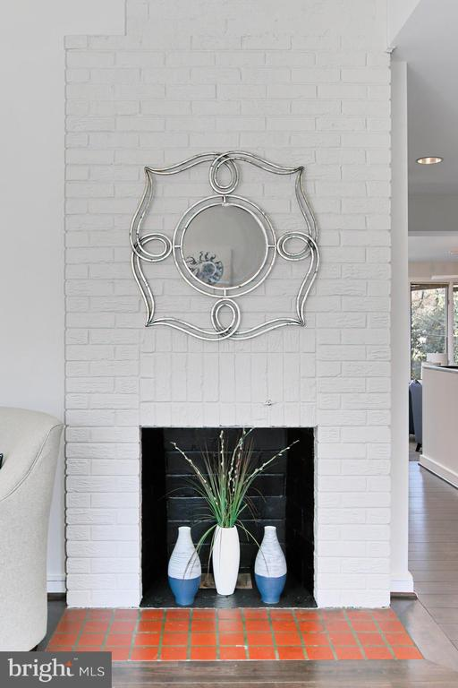Fireplace in living room - 6802 GLENMONT ST, FALLS CHURCH