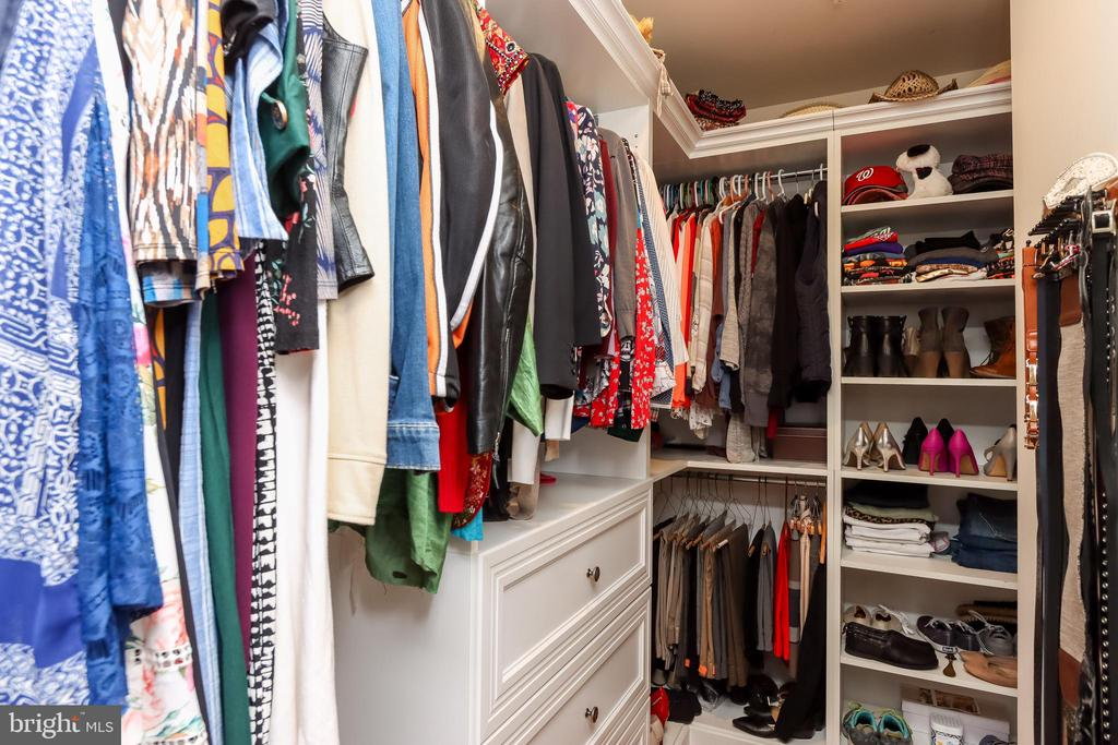 One of two primary bedroom walk-in closets - 113 MAROON CT, FREDERICK