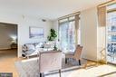 Big Living Room - Hardwood Flooring - 820 N POLLARD ST #208, ARLINGTON