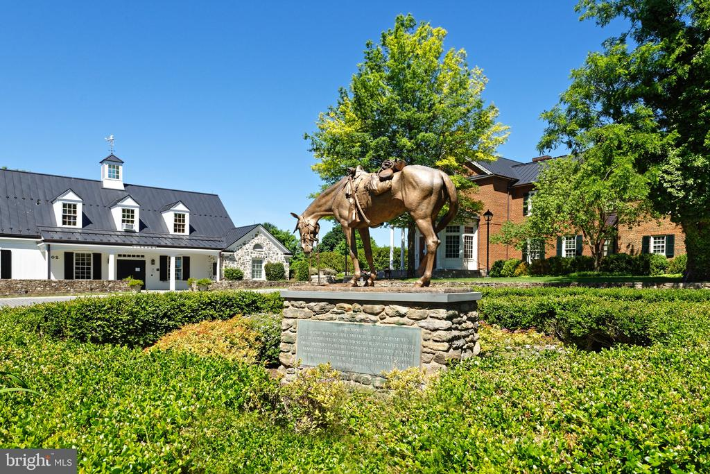 Civil War Horse monuments in front of the library - 21943 ST LOUIS RD, MIDDLEBURG