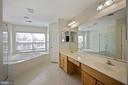 Double vanity, linen closet,  private water closet - 1306 MONROE ST, HERNDON