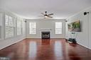View from kitchen into beautiful family room - 1306 MONROE ST, HERNDON