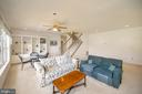 Lower level family room with awesome built ins - 112 WOODLAWN TRL, LOCUST GROVE