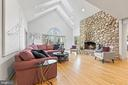 2 Story Family Room w/ Gas Fireplace - 13219 LANTERN HOLLOW DR, NORTH POTOMAC