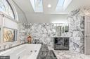 Spa Bathroom with Marble Heated Floors - 13219 LANTERN HOLLOW DR, NORTH POTOMAC
