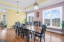 Large Eat-In Kitchen With Amazing Views - 11170 GEORGES MILL RD, LOVETTSVILLE