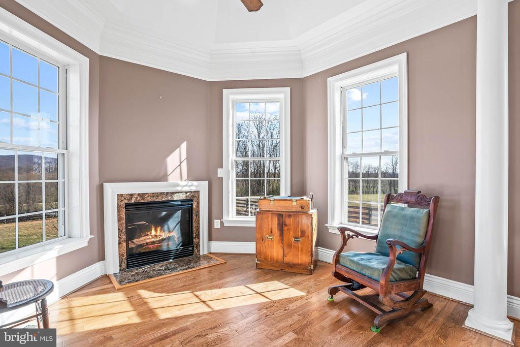 Charming Sitting Area with Gas Fireplace - 11170 GEORGES MILL RD, LOVETTSVILLE