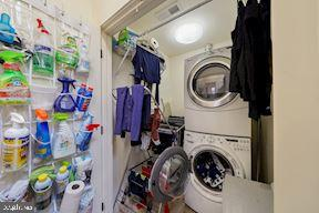Convenient laundry closet in 2nd floor hallway - 3249 38TH ST NW, WASHINGTON