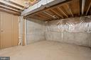 This huge storage room could easily be finished! - 10525 ELMENDEN CT, OAKTON