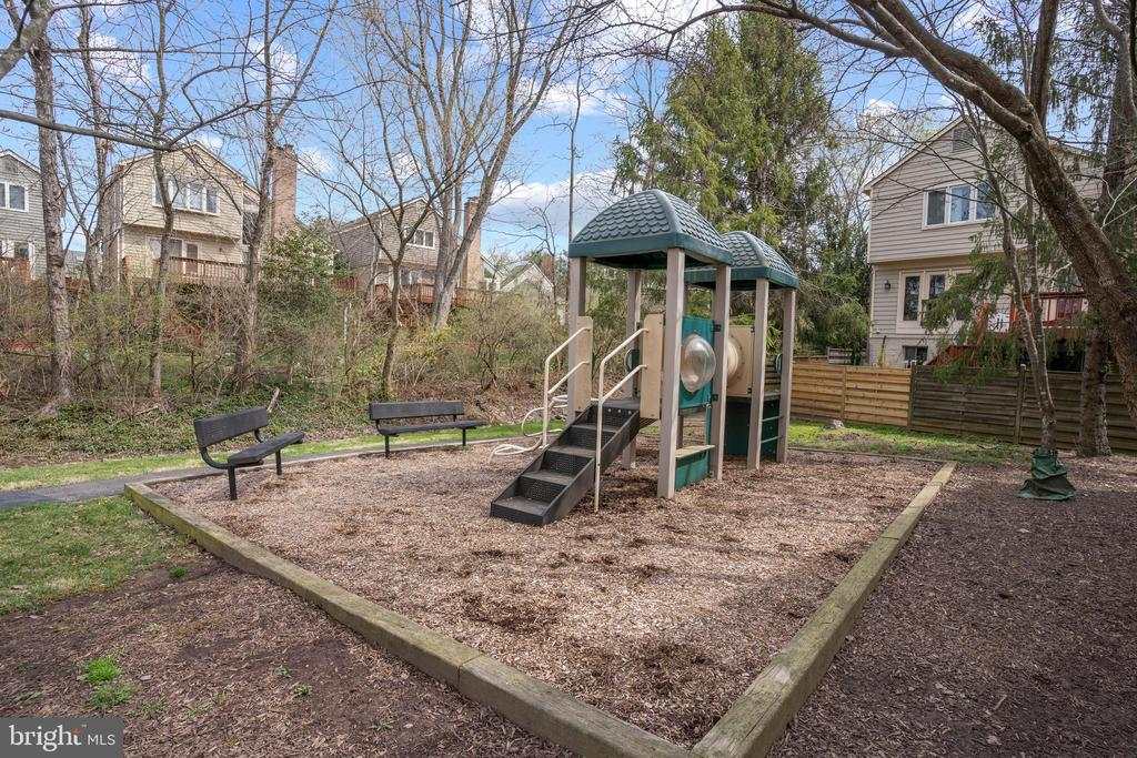 Playground is right at the end of the cul-de-sac! - 10525 ELMENDEN CT, OAKTON