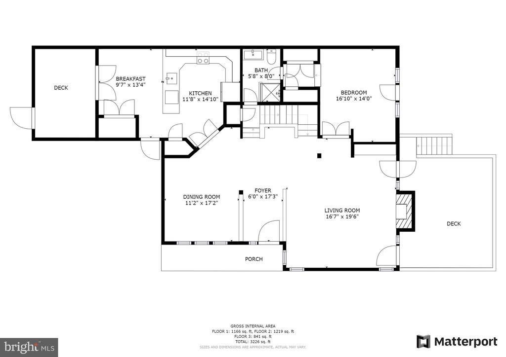 Main level floorplan - 10525 ELMENDEN CT, OAKTON