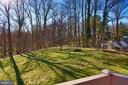 Private back yard opens to wooded area - 14908 TALKING ROCK CT, NORTH POTOMAC