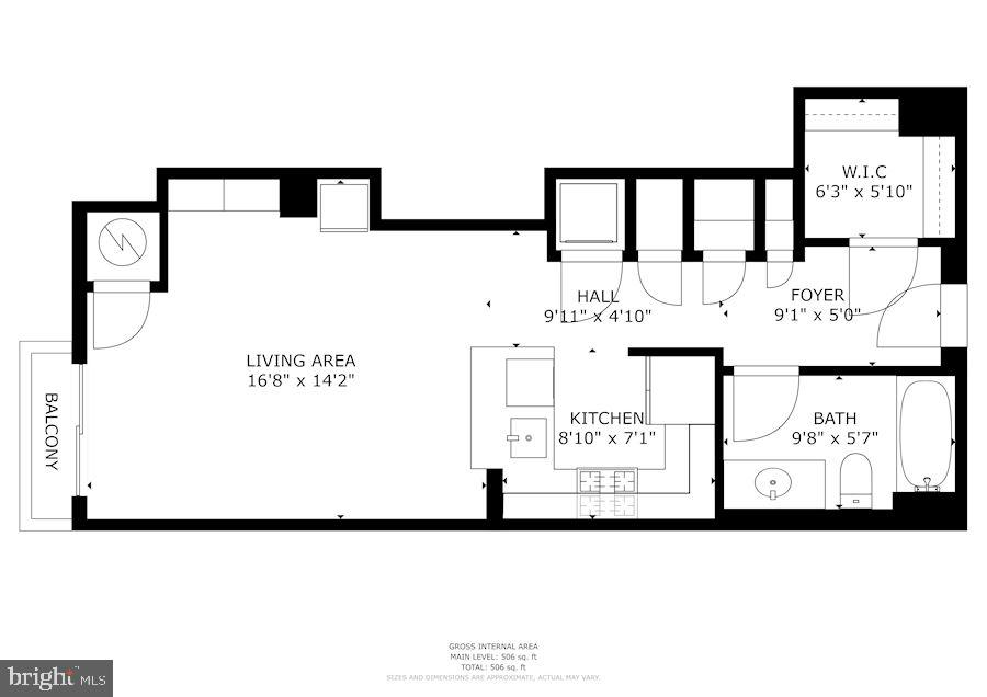 Floor plan - 1111 25TH ST NW #918, WASHINGTON