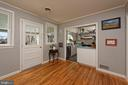 Back door leads to private open terrace - 21943 ST LOUIS RD, MIDDLEBURG