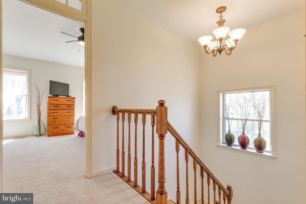Windows in stairwell keeps the property light! - 5731 MASON BLUFF DR, BURKE