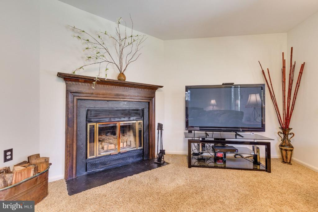 Wood burning fireplace with classic mantle - 5731 MASON BLUFF DR, BURKE