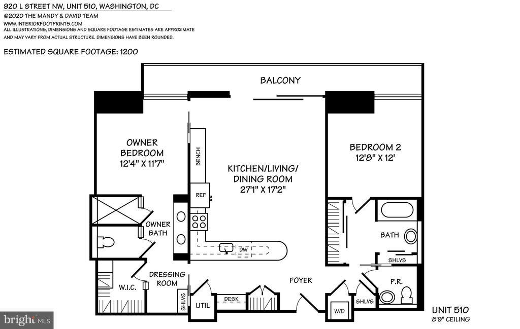 Floor Plan - 920 I ST NW #510, WASHINGTON