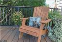 Grab a book and tuck in on the deck - 5731 MASON BLUFF DR, BURKE