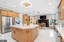 Kitchen with fireplace - 658 LIVE OAK DR, MCLEAN
