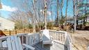 Deck overlooks large back yard - 3014 MEDITERRANEAN DR, STAFFORD
