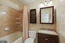 Renovated Hall Bath with tub/shower combo - 304 W VERNON CT, STERLING